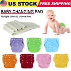 5 Pcs Diapers+5 Insets Cloth Lot Nappies Adjustable Reusable For Baby US Stock