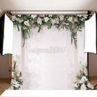 3.9 2.6FT White Flowers Wedding Backdrop Curtain Party Photo Background Cloth