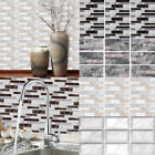 9x Kitchen Tile Stickers Bathroom Mosaic Sticker Self-adhesive Wall Home Decor