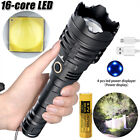 Most Bright XHP160 16-Core LED Flashlight USB Rechargeable Torch Light XHP90