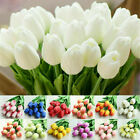 1/6/12x Artificial Tulip Silk Flower Bouquet Real Touch Home Wedding Party Decor