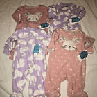 NWt carters swans mice mouse 4 sleepers TWINS NB newborn 2 sets pajamas 0 mos