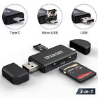 USB Card Reader SD Type TF OTG Micro Memory 3in1 Adapter