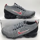 Nike Air Vapormax Flyknit 3 Men's Size Particle Grey Red/Black AJ6900-012 NEW