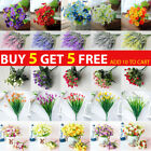 Artificial Flowers Plants Fake Roses Bouquet Outdoor Home Wedding Party Decor Uk