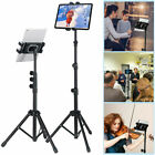 """22-54"""" Sturdy Tripod Floor Tablet Stand Cellphone Holder Fr 4.7-13"""" Device W Bag"""