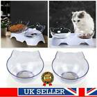 Pets Feeding Dog Cat Water Bowl Removable Food Bowls With Holder Elevated UK NEW