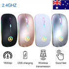 Led Wireless Mouse Cordless Optical Games Mice 2.4ghz Usb For Pc Laptop Computer