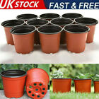 100pc Plant Pots Terracotta Plastic Flower Pot Basket Nursery Planter Home Decor