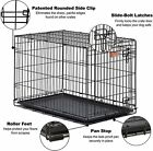 MidWest Homes for Pets Dog iCrate Single Door Folding Metal Dog Crates  Equipped