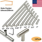 10 Pcs Stainless Steel Brushed Nickel Kitchen Cabinet Handle T Bar Pull Hardware