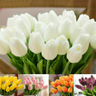 Artificial Tulips Fake Flower Real Touch Bridal Wedding Bouquet Home Decor 10pcs