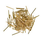 50x Smooth Long Tube Spacer Beads Jewelry Making Findings DIY Craft Gold