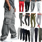 Mens Casual Baggy Sweatpants Cargo Pants Bottoms Joggers Fitness Sports Trousers