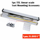 2/3 Axis Digital Readout TTL 1um Linear Glass Scale DRO Display CNC Milling