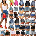 Women's Lady Denim Hot Pants High Waist Shorts Jeans Ripped Casual Beach Pants