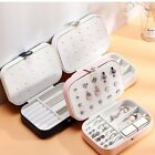 Pu Leather Small Portable Travel Case Storage Holder Boxes 2 Layers Organizer
