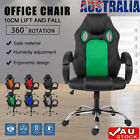 360° Durable Executive Office Computer Game Leather Seat Mesh Chair Gaming Pu Au