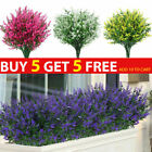 Artificial Flowers Plastic Fake Plant Uv Resistant Home In/outdoor Garden Decor