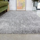 Silver Cosy Shaggy Rug Thick Soft Bedroom Rugs Fluffy Non Shed Living Room Mats