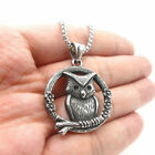 Fashion Silver Handmade Owl Pendant Band Party Necklace Halloween Jewelry Gift