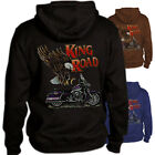 King of the Road Hoodie Cruiser bike motorcycle eagle