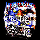 American Steel Hoodie chopper biker custom USA Flag