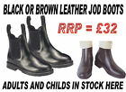 LEATHER JODHPUR BOOTS ladies,mens childs BLACK OR BROWN
