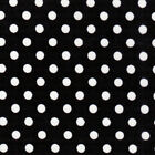 POLY/COTTON FABRIC POLKA DOT WHITE BLACK PINK RED GREEN