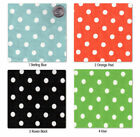 COTTON FABRIC 8MM WHITE POLKA DOT BLACK RED PINK GREEN
