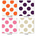 "SHEER COTTON  CLOTH DRESS BLOUSE FABRIC CUTE BIG 22MM VIVID POLKA DOTTY DOT 58""W"