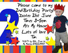 Childrens Photo Personalised Birthday Party Invites