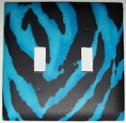 Zebra Blue Light Switch Plates Electrical Outlet Covers
