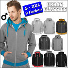 URBAN CLASSICS LIGHT FLEECE ZIP HOODY SWEAT JACKE PULLI