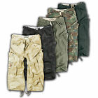 SURPLUS Raw Vintage™ ENGINEER CARGO 3/4 SHORTS Camo Belt Edition Bermuda Rider