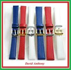 Top Quality ECO Leather Watch Straps, Blue, Red, White 12mm 14mm 16mm 18mm 20mm
