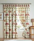 "KINSALE 3"" TAPE TOP FULLY LINED CURTAINS IN TERRACOTTA: FREE TIEBACKS INCLUDED"