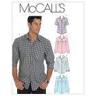 McCall's 6044 Sewing Pattern to MAKE Men's Shirts w/ Sleeve & Pocket Variations