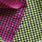 WATER REPELLENT OUTDOOR POLY LIGHT 50D GINGHAM CHECK 1Y