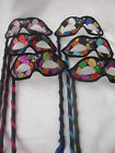 HARLEQUIN MASQUERADE STICK MASK ~ PARTY PROM