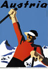 T48 Vintage Austria Skiing Travel Poster A1 A2 A3