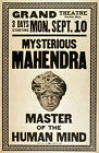 M39 Vintage 1923 Mind Reader Magic Poster A1 A2 A3