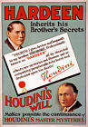 M50 Vintage Hardeen Houdini Magic Poster Print A1 A2 A3