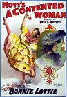 TH7 Vintage A Contented Woman Theatre Dance Poster Re-Print A1 A2 A3