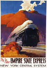 TR90 Vintage Empire State USA Railway Poster A3 A2 A1