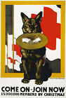 W52 Vintage WWI American Red Cross Recruitment Poster Print WW1 - A1 A2 A3