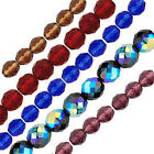 """6"""" Strands Czech Fire Polished Round Beads - 5 sizes & 12 Colours to choose from"""