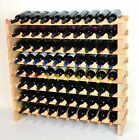 Modular Wine Rack 40-120 Bottles Solid Beachwood 10 Bottles Across up to 12 Rows