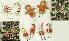 ESC Lori Mitchell Folk Art Christmas Tree Ornaments Gingerbread Candy Cane Mouse