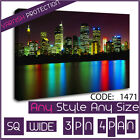 Wall Art New York City Reflections at Night Cityscape Canvas Art